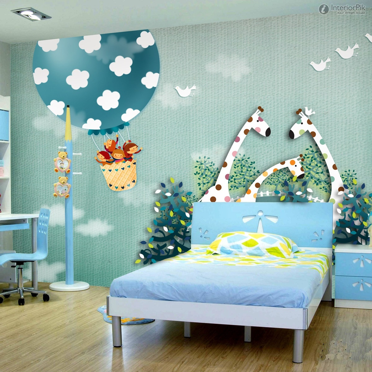 Childrens bedroom wallpaper ideas home decor uk for Childrens mural wallpaper