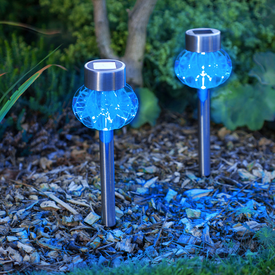 Blue Solar Garden Lights