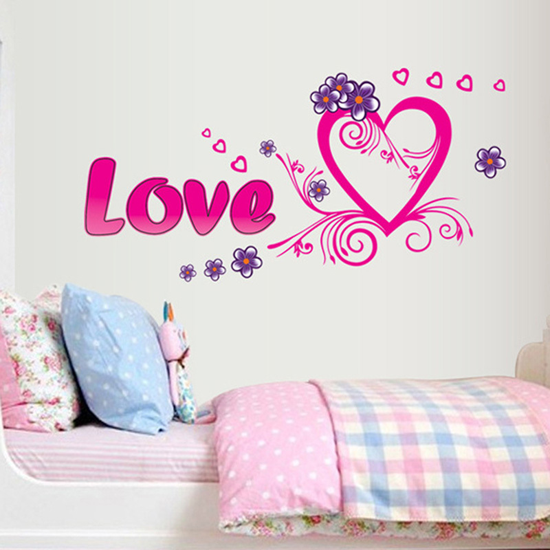 Image gallery heart wallpaper for bedroom for Bedroom ideas 2016 uk