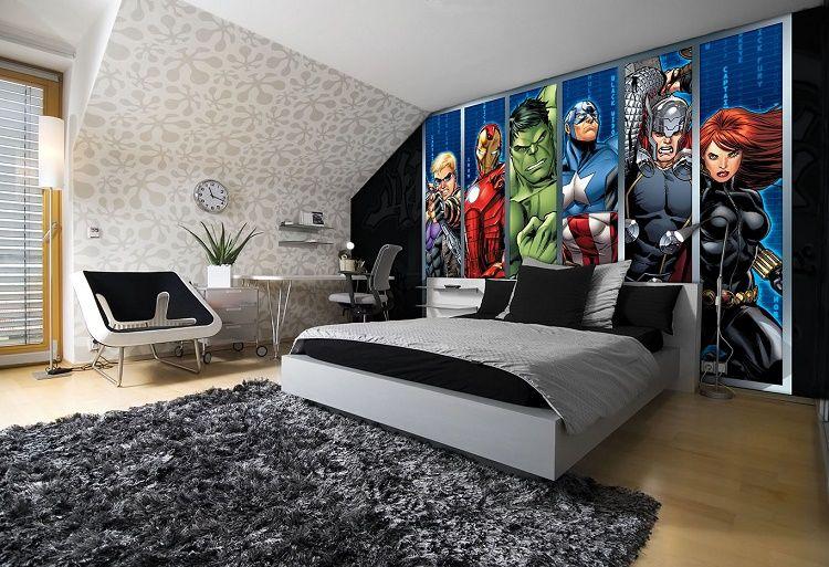 boys mural wallpaper