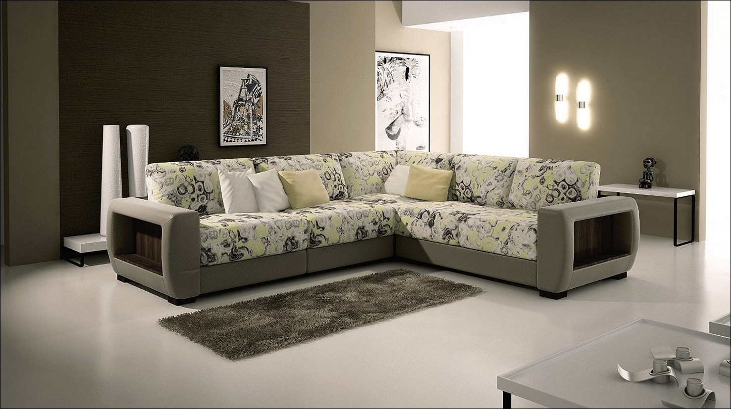 Wallpapers for living room design ideas in uk - Family room wall decor ideas ...