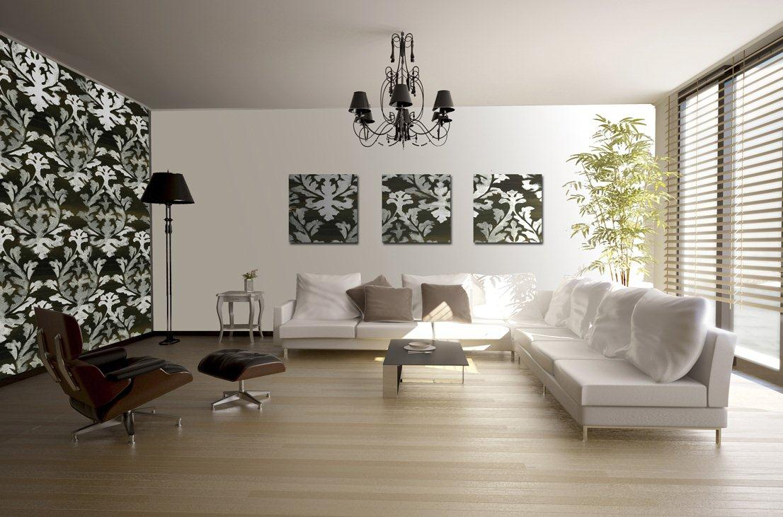 Wallpapers for living room design ideas in uk for Front room feature wallpaper