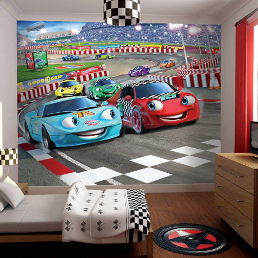 Childrens bedroom wallpaper ideas home decor uk for Disney car bedroom ideas