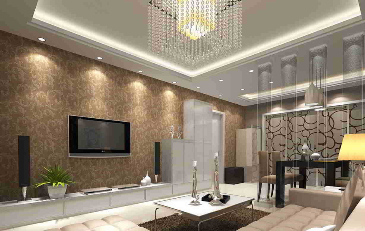 Wallpapers for living room design ideas in uk for Home wallpaper designs for living room