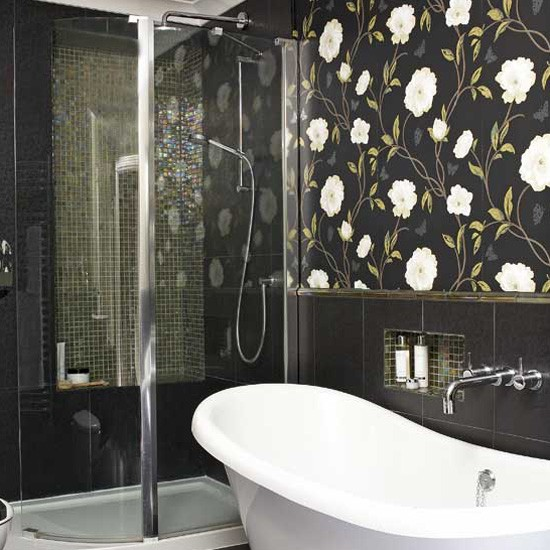 Modern wallpaper for bathrooms ideas uk for Bathroom ideas b q