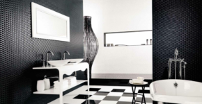 Black and White Floor Tile