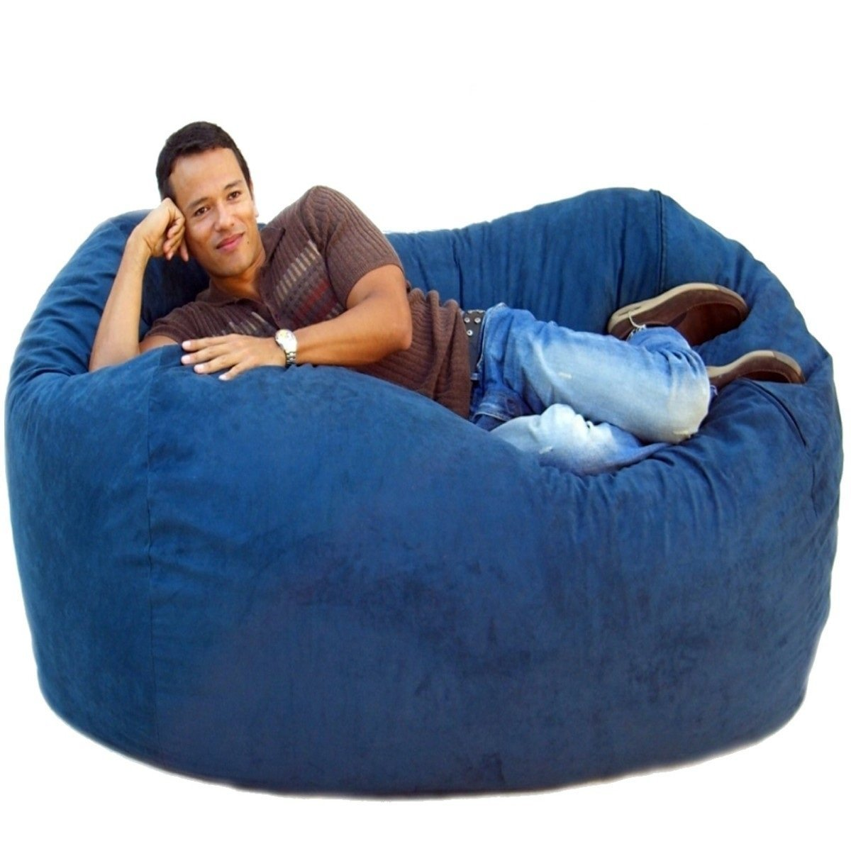 Blue Big Bean Bag Chairs Home Decor Ideas