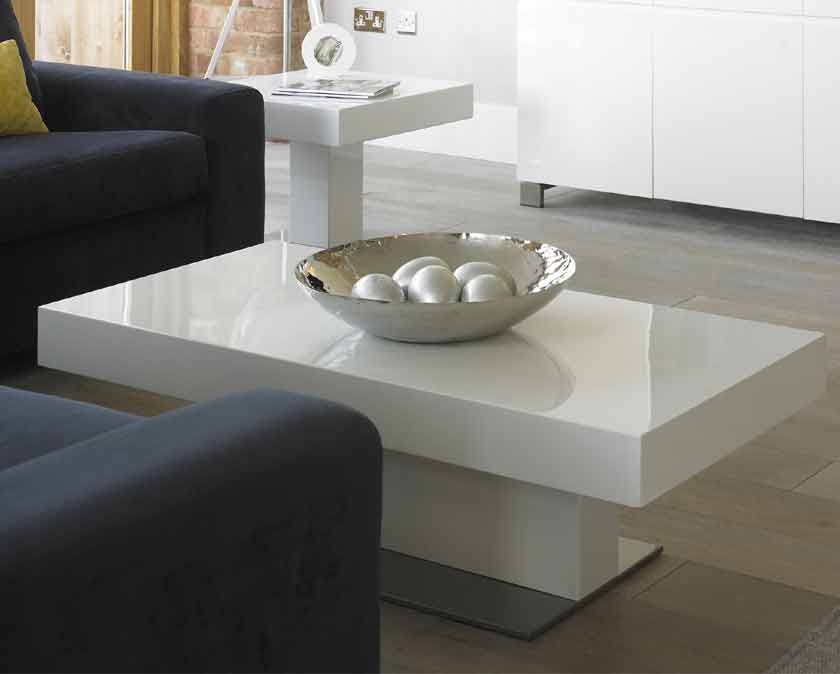 High Gloss White Coffee Table Rascalartsnyc