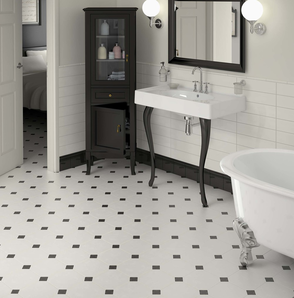 Black and white floor tiles ideas with images White kitchen floor tile ideas