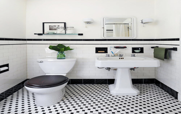 ... Black And White Tile Bathroom Floor Best 25 Black Bathroom Floor