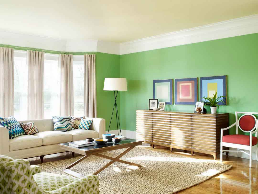 contemporary paint colors for living room