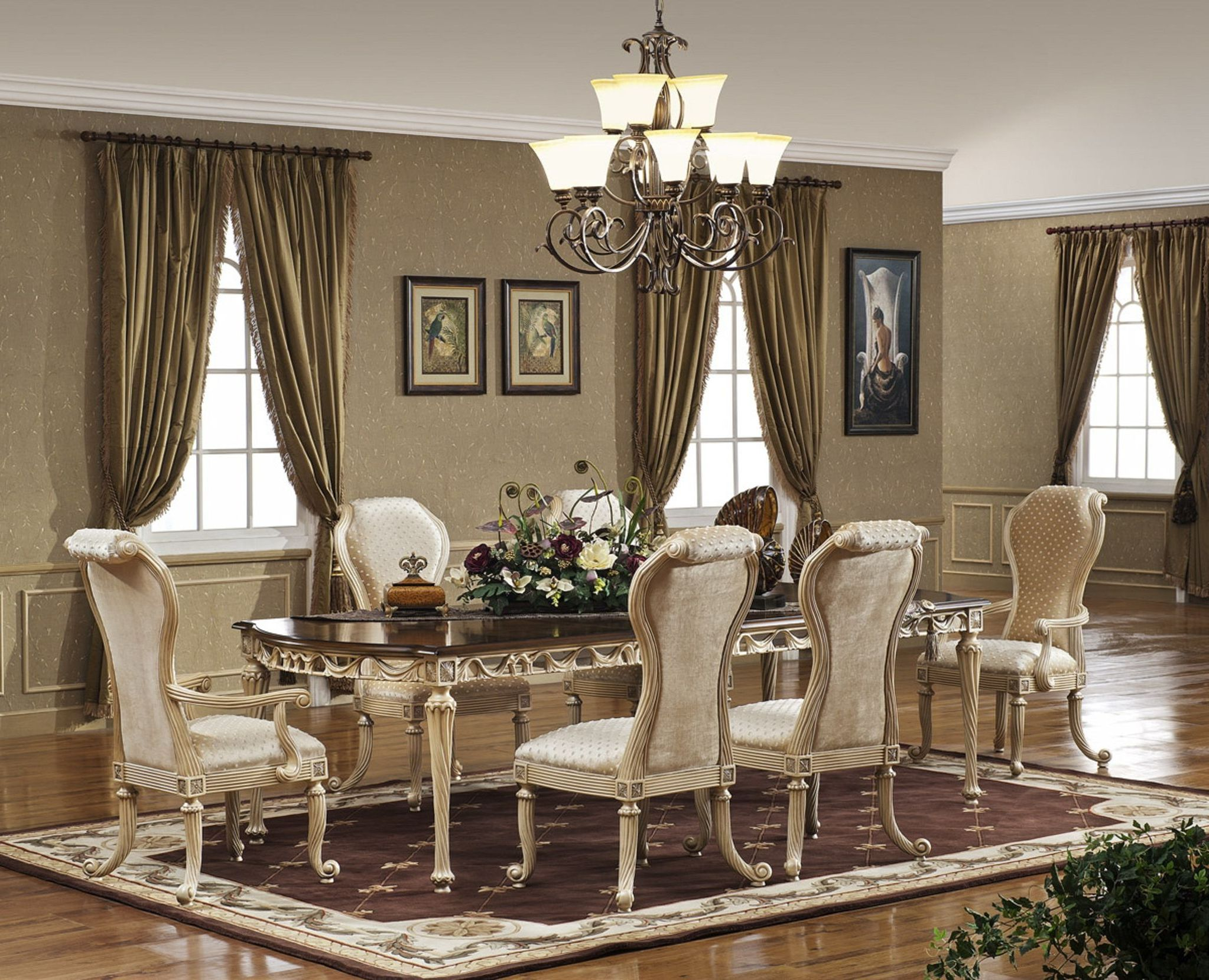 Dining room table and chairs ideas with images for Living room designs with dining table