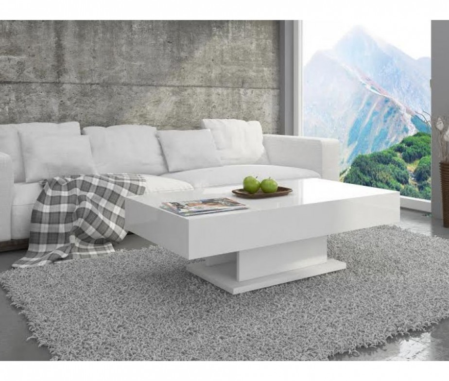 Modern Oval White High Gloss Glossy Lacquer Coffee Table: White High Gloss Coffee Table With Storage Ideas