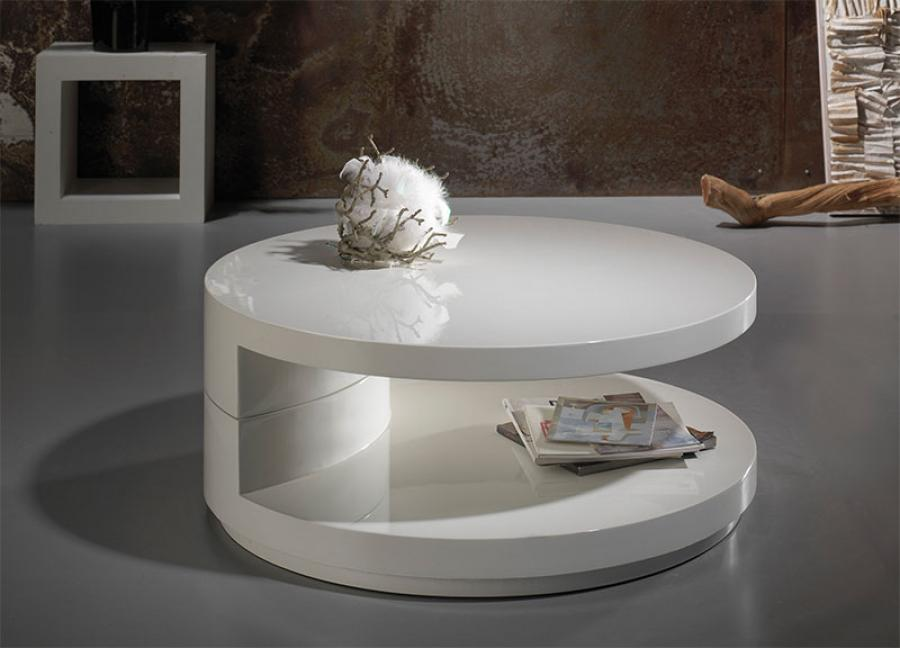 White High Gloss Round Coffee Table Coffetable - White Round Coffee Table - Starrkingschool