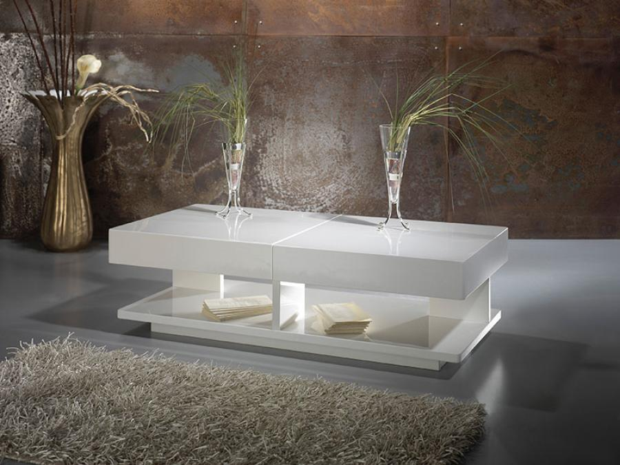 White High Gloss Coffee Table Pictures