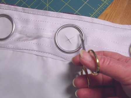 How To Make Eyelet Curtains With Buckram