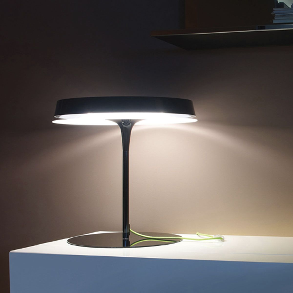 Marvelous-Study-Table-with-Modern-Table-Lamps-with-Black-Shade-also-Pipe-Style
