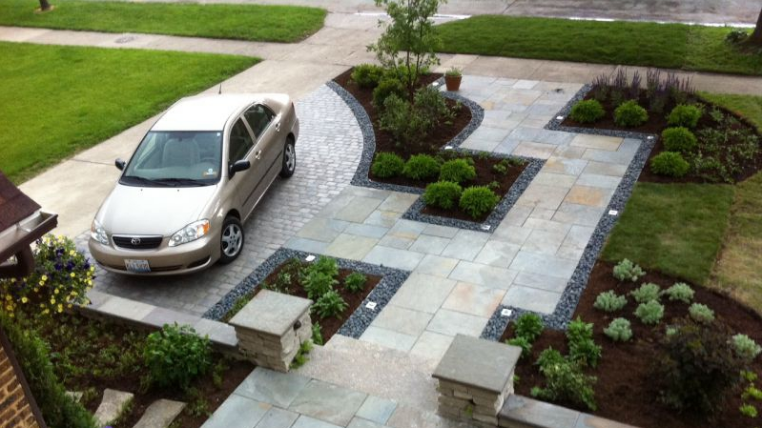 changing front garden to parking