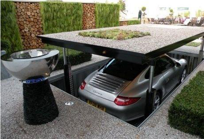 creating parking space front house