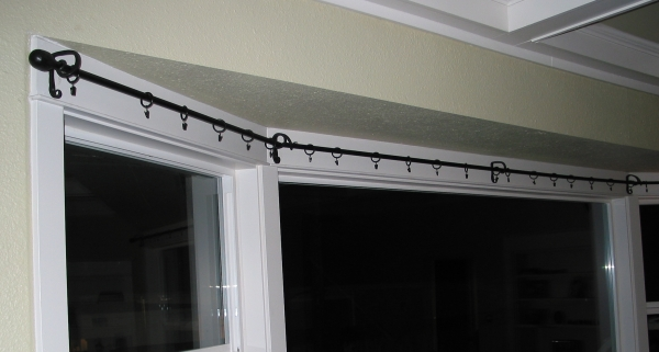 curtain rail for bay windows