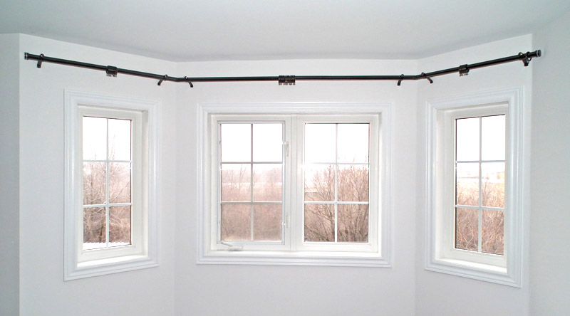 curtain tracks for bay windows ceiling mounted