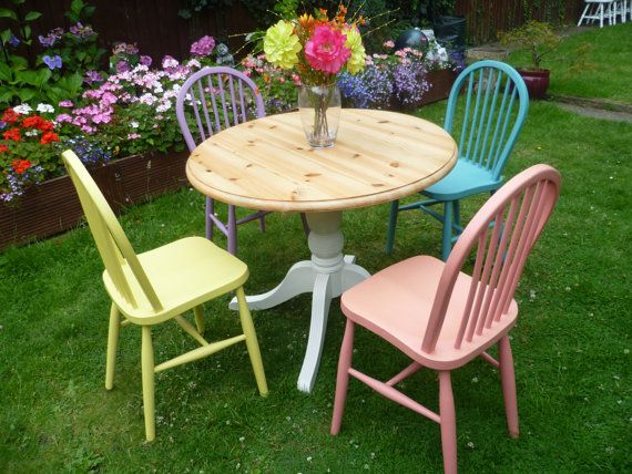 diy shabby chic dining table and chairs