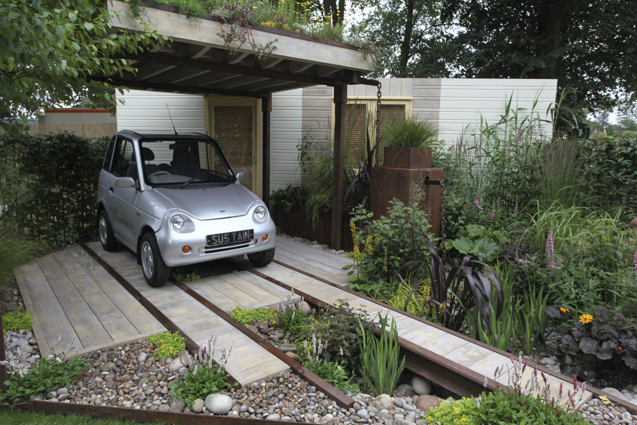 creating parking space front house uk