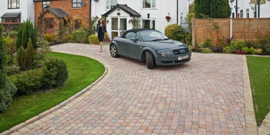 front garden design 2 cars uk