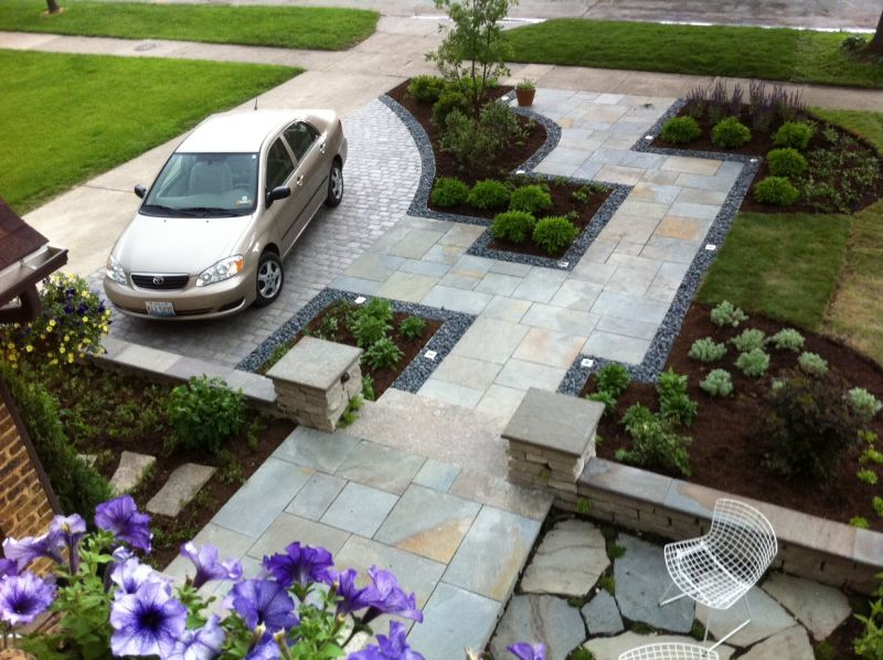 Home Driveway Design Ideas: Top 30 Front Garden Ideas With Parking