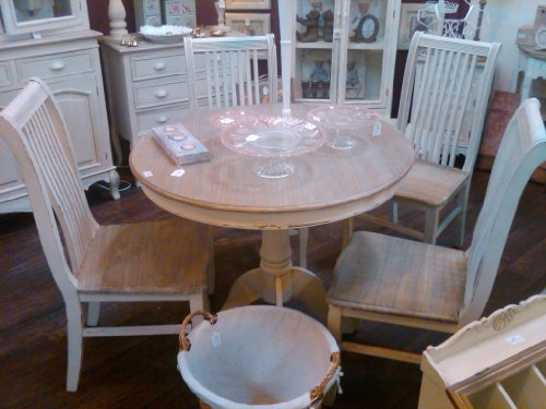 shabby chic dining table and chairs cheap uk