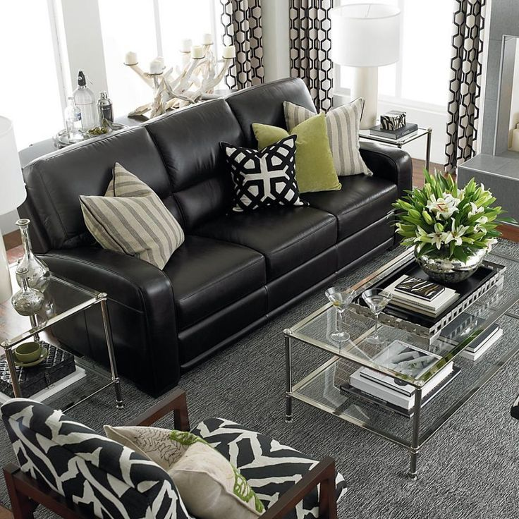living room with black leather sofa 35 best sofa beds design ideas in uk 26954