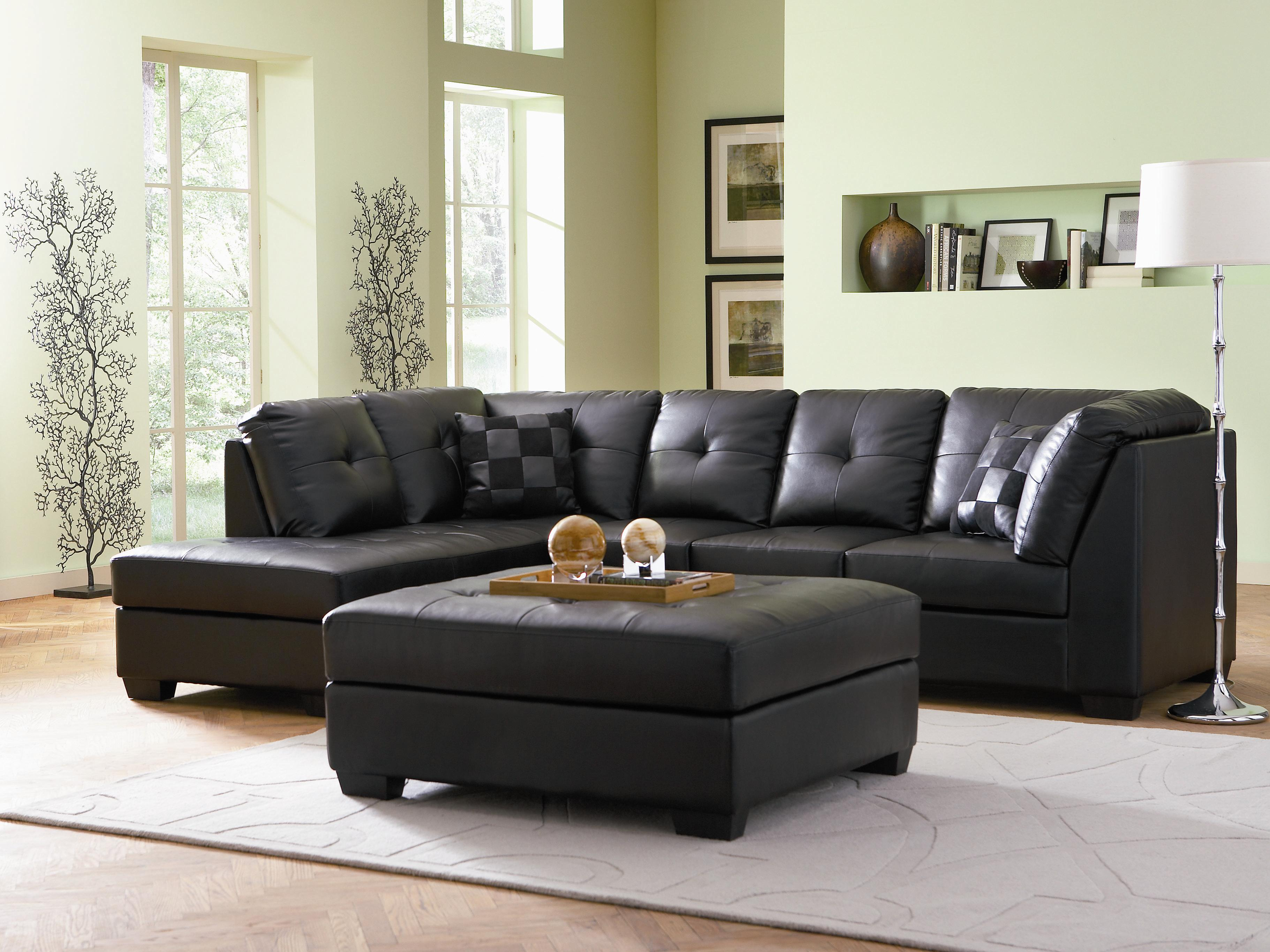 black sofa decorating ideas
