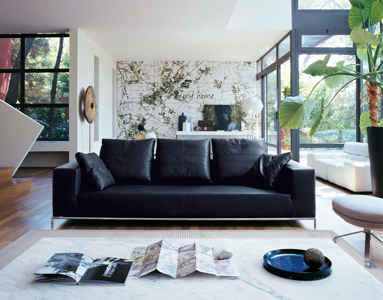 living room decor with black leather sofa 35 best sofa beds design ideas in uk 27242