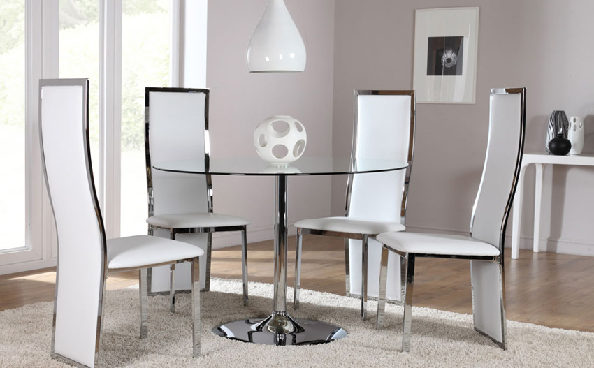 Hygiene Round Shape Dining Table and Chair Set uk