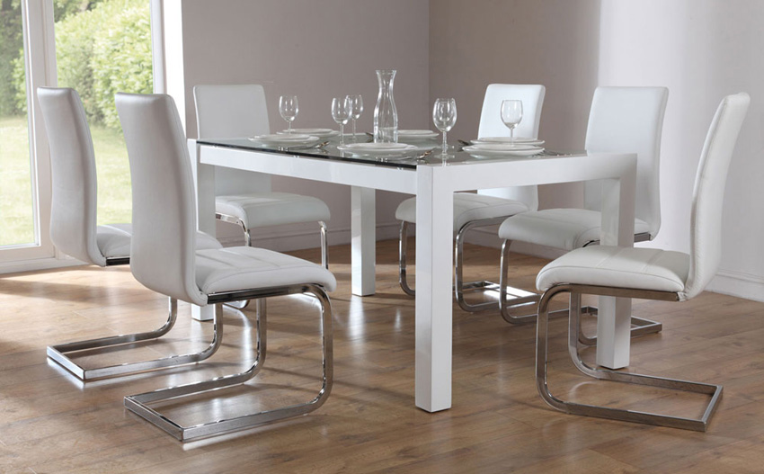 Hygiene Round Shape Dining Table and Chair Set