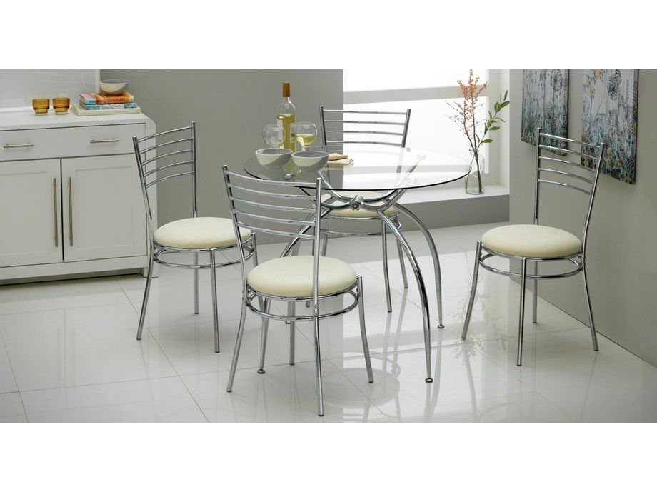 Hygiene Round Shape Space Saving Dining Table and Chair Set uk