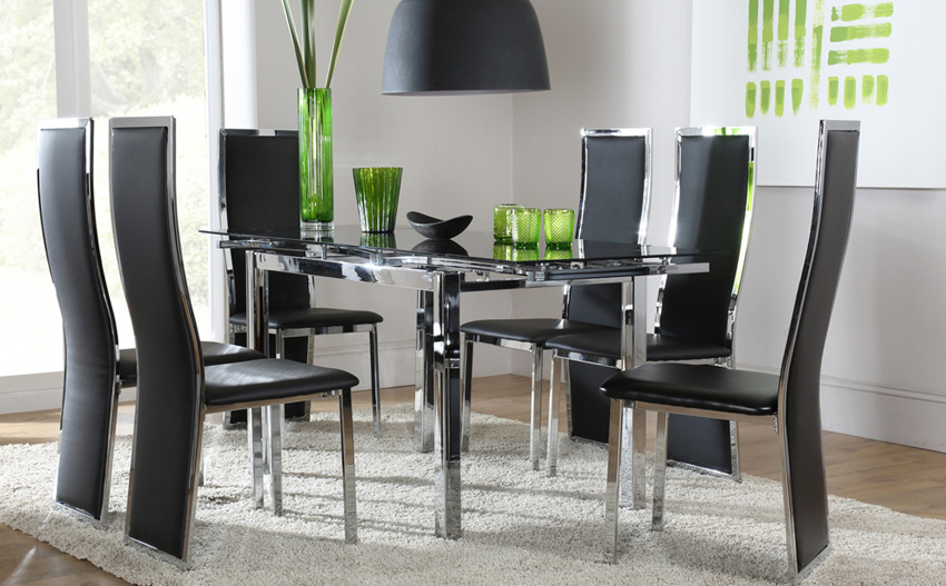 Hygiene Round Shape Space Saving Dining Table and Chair Set