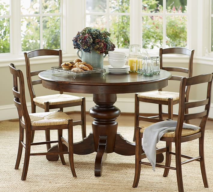 Pottery barn round dining table and chairs uk