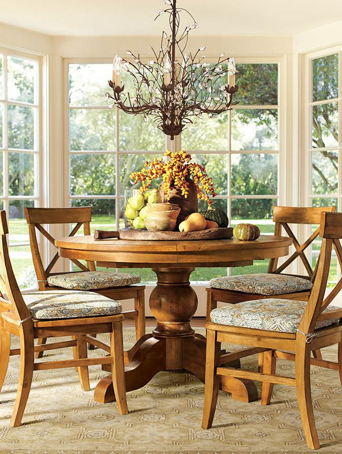 Santa Fe Round Dining Table U0026 Chairs