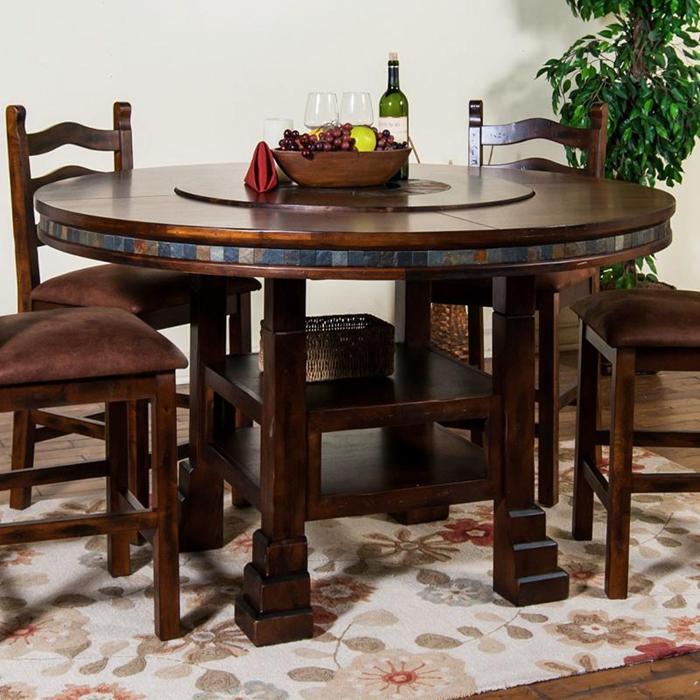 cream high gloss dining table