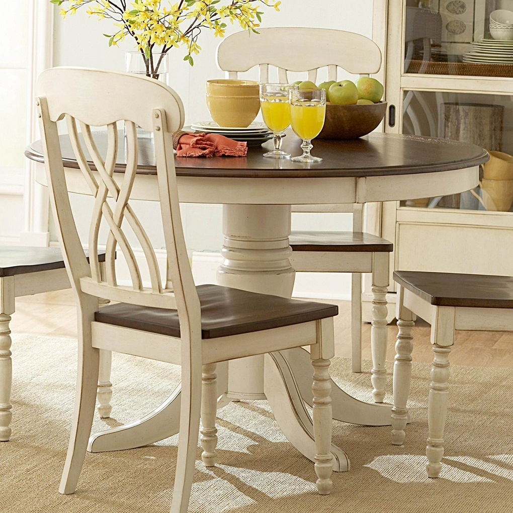 Round Kitchen Tables: Top 50 Shabby Chic Round Dining Table And Chairs
