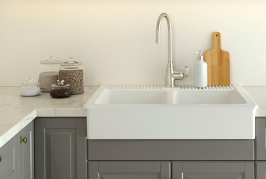 ikea sink kitchen design idea