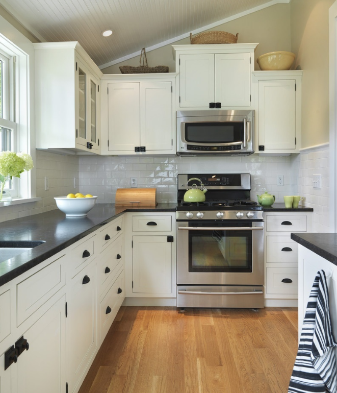 l shaped kitchen design with window