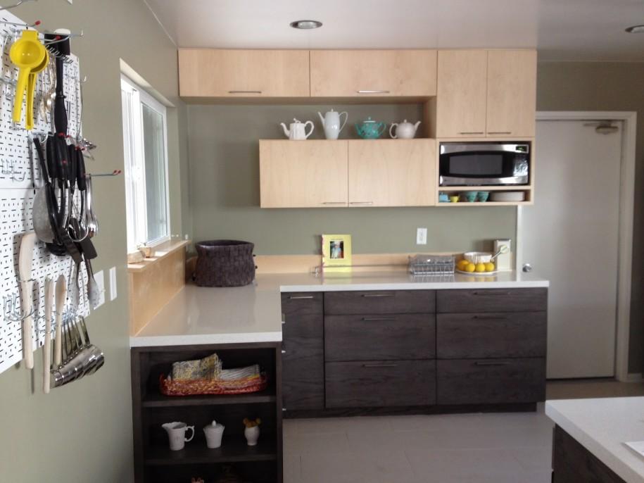 Small L Shaped Kitchen Design Grey Walls In Kitchen