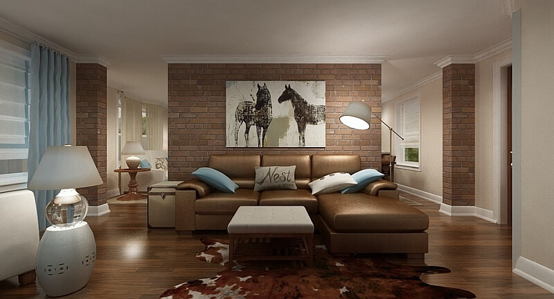 Living Room With A Cozy And Relaxed Appeal