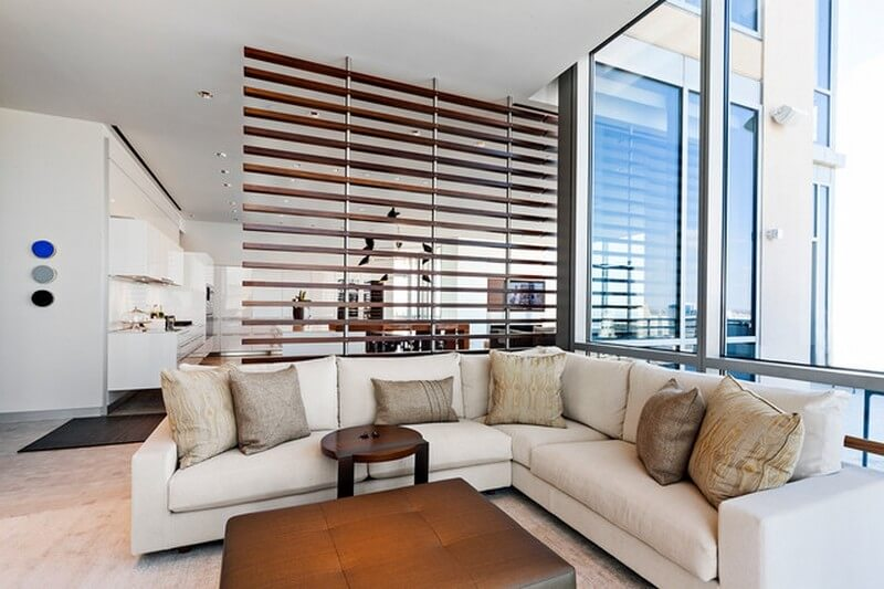 Modern Room Dividers Screens Ideas For Feng Shui Living Room Apartment