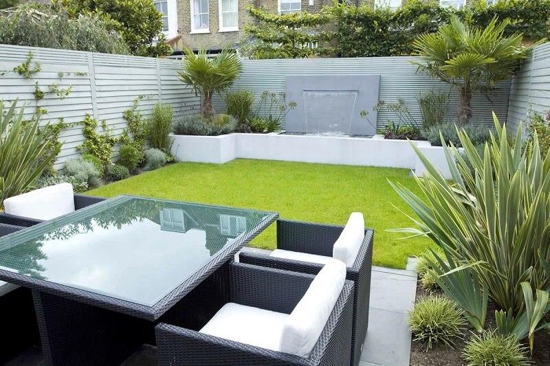 Zen Garden With Contemporary Furniture