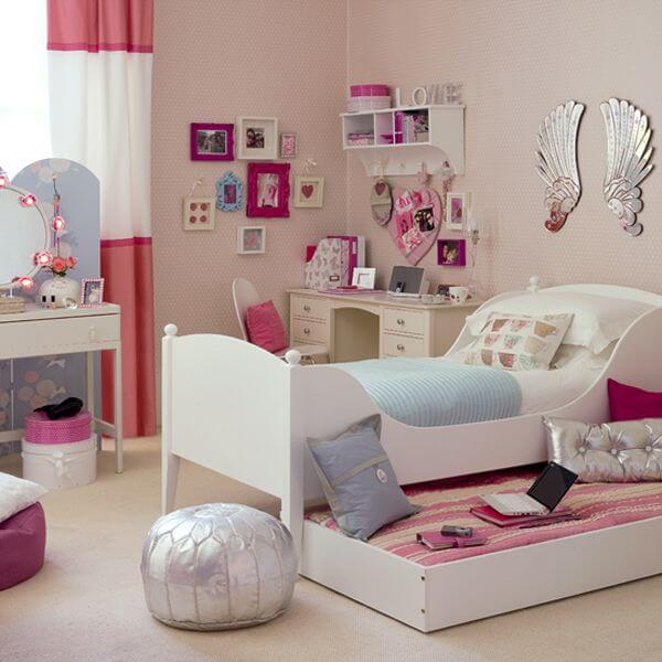 Room For Teens Girl Pink Space Saving Picture