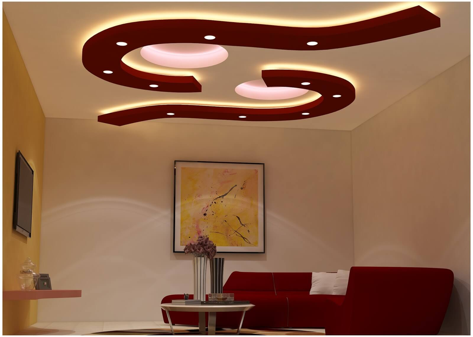 Ceiling Design Ideas for Living Rooms