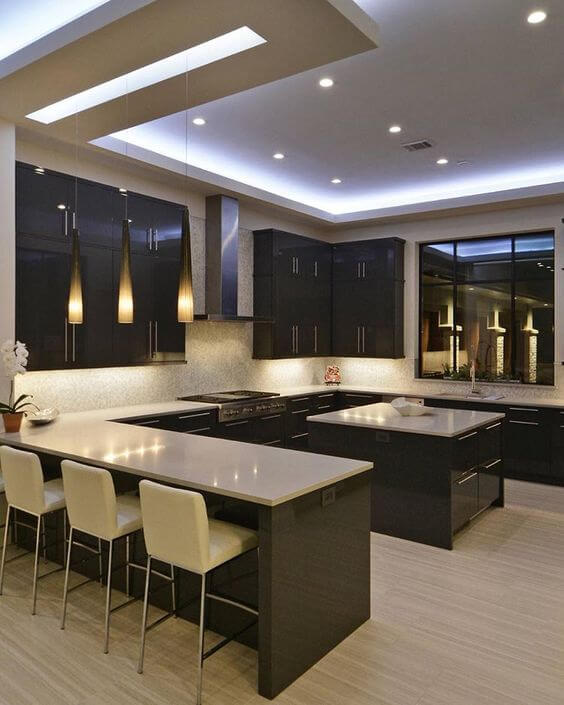 Simple Kitchen Design For Small House Kitchen: 75 Best Modern Ceiling Design Ideas For Kitchen 2020
